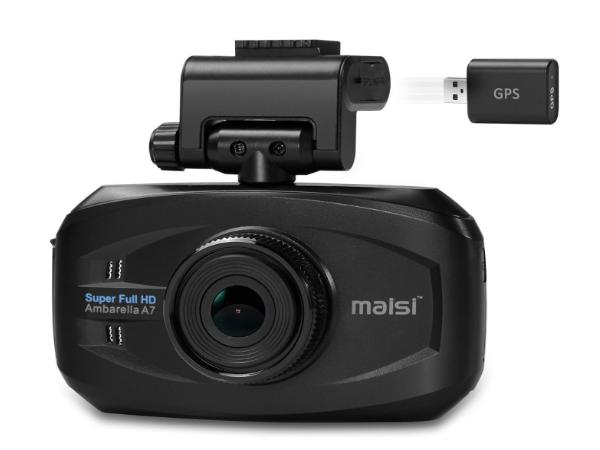 MAISI® SMART Car Recorder with GPS, Super HD 1296P Color Black Box WDR Dashboard Camcorder, Black (UPC:712319557143)