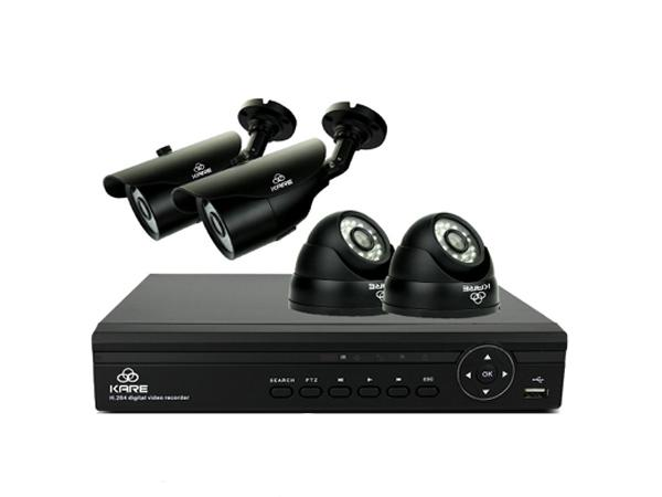 KARE® 4CH 1080N DVR Recorder CCTV Camera Systems with 4x Super HD 1.3MP Camera