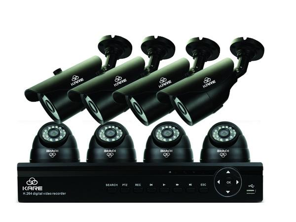 KARE® 8 Channel CCTV DVR Camera System with 4x Day Night Dome & 4x Bullet Cameras upc 712319560792