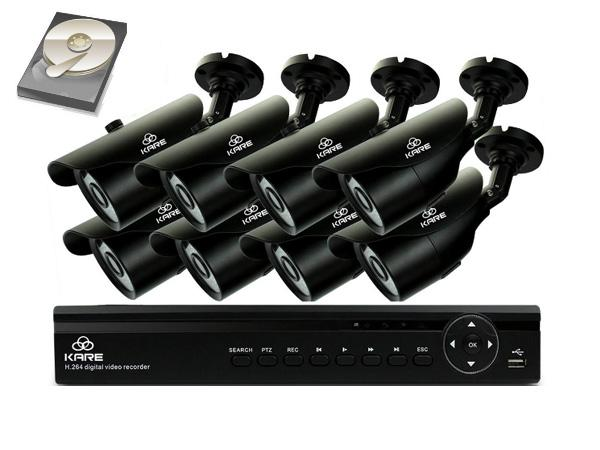 KARE 8 Channel 1080N CCTV DVR System with 8 Super HD 960p Indoor Outdoor Bullet Cameras and 2TB Hard Drive (UPC: 701807863231)