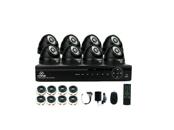 [Better Than 720P] KARE 8CH 1080n DVR Recorder CCTV Security System Kit with 8 Outdoor Waterproof Cam NO HDD(1280x 960 Mega Pxiel, Rapid USB Backup, Vandal Proof, Night Vision, Mobile App: Xmeye), upc 520870104863